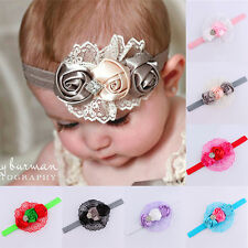 Baby Kids Toddler Infant Flower Rhinestone Headband Hair Accessories Band WB