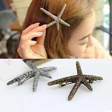 Fashion Beach Sweet Womens Girl Starfish Sea Star Hairpin Hair Clip Accessories