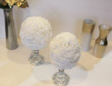 Royal White Topiary Paper flower wedding decor country table decor Set 3, 5, 10