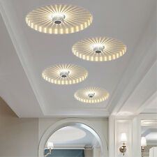 Round 3W LED Aluminum Recessed Ceiling Light Fixture Porch Pathway Walkway Lamp