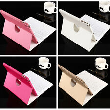 360 Swivel Rotating  Leather Case  With Bluetooth Keyboard For Apple iPad Air1/2
