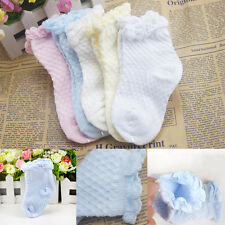 Newborn Baby Children Girl Breathable Mesh Cotton Solid Ankle Socks 2-Pack