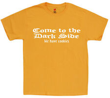 Men's t-shirt funny saying come to the dark side we have cookies tee shirt