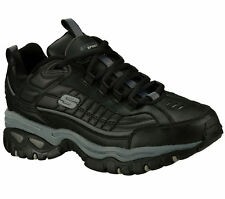 50081 BBK EW Wide Width Black Skechers Shoes Men New Sport Train Leather Sneaker