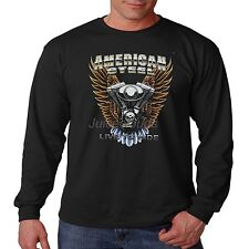 Biker Long Sleeve Shirt American Steel Live To Ride Chopper