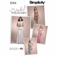 Miss Bridal Collection Two Part Peplum Dress Simplicity Sewing Pattern 8164