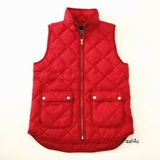 J. Crew Excursion Quilted Down Vest NWT Color: Dark Poppy Size: XS-XL