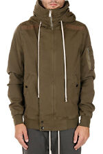 RICK OWENS DRKSHDW Man Green Hooded Bomber Made in Italy