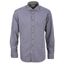 Camel active Men's Casual Shirt Regular Fit blue grey Red-White Check 395300 35