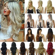 Lady Long Curly Straight Full Wigs Cosplay Party Daily Fancy Dress Cheap Price