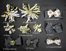 New Orleans Saints Themed Hair Bows Korkers Classic Bottle Caps U-Pick