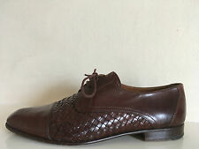 RUSSELL BROMLEY WOVEN LEATHER SHOES OXFORD STYLE MADE IN ITALY MENS UK SIZE 7