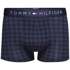 Tommy Hilfiger Men's Icon Houndsworth Stretch Cotton Trunk, Boxer Brief, Peacoat