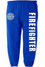 Firefighter sweatpants for men fireman sweats fire fighter pants men's blue