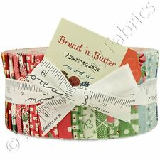 "Moda Bread 'n Butter Jelly Roll Fabric 40 2.5x44"" Quilting Quilt Cotton Strips"