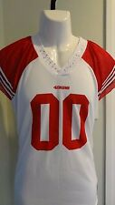 New NFL Reebok Womens San Francisco 49ers Sparkly Fashion Team Jersey:  Size M