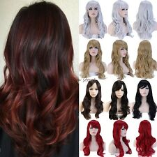 Hair Wigs Long Curly Straight Cosplay Party Daily Fancy Dress Women Fashion Silk