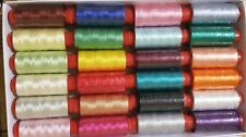 20 spools of sewing machine silk art embroidery threads, 20 good colours