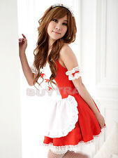 Sexy Girl's Maid Lolita Uniform Halloween Costume Dress Cosplay Outfit WB