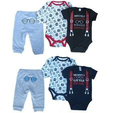 Baby Boys Cute Cotton 3 Piece Set Cool Dude Awesome Handsome Casual 0-3M 3-6M