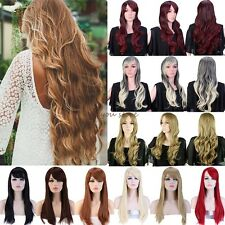 Thick Wigs Long Curly Straight Halloween Costumes Cosplay Party Fancy Dress Soft