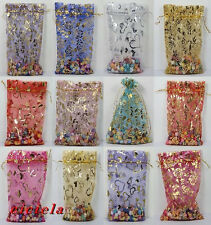 100Pcs Organza Jewelry Packing Pouch Wedding Favor Large Gift Bags 13X18CM