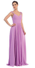 TheDressOutlet Long Bridesmaids Dress Plus Size Formal Gown