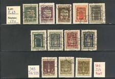 """F_49. FIUME.1924 """"SAN VITO AND OTHER overp. ANNESSIONE ITALIA"""" set. Used."""