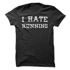 I Hate Running - Funny T-Shirt Short Sleeve 100% Cotton Running Exercise