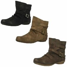 F50336- Ladies Spoton Ankle Boots 3 Colours- Taupr, Brown&Black
