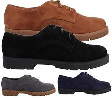 Womens Ladies Faux Suede Lace-Up Comfy Casual Formal Desert Shoes Size 3-8