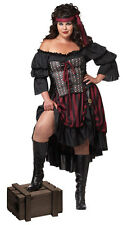 Plus Size Hot Pirate Wench Adult Halloween Costume