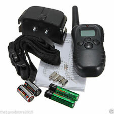 Dog Training Stop Bark Collar LCD Display Remote 100 Levels