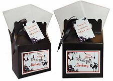Personalised Halloween Trick or Treat Birthday Party Favour Sweets Box