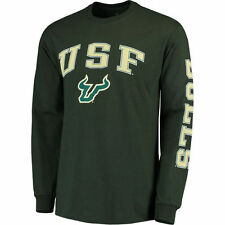South Florida Bulls Green Distressed Arch Over Logo Long Sleeve Hit T-Shirt