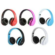 Bluetooth Wireless Stereo Headset Earphone Mic FM Radio for Phone Tablet PC A5N8