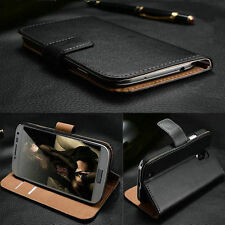 Genuine Real Leather Stand Flip Case Wallet Cover For Samsung Galaxy S7 S6 S5