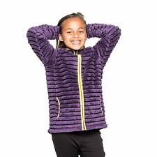 Craghoppers Girls Appleby Full Zip Fleece Childrens Fluffy Striped Jacket
