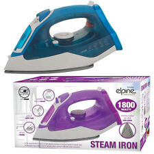 1800W ELECTRIC COMPACT STEAM SPRAY IRON STAINLESS STEEL NON-STICK SOLEPLATE WATT
