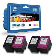 4 REMANUFACTURED HP OFFICEJET HIGH CAPACITY INK CARTRIDGES HP901 2 FULL SETS