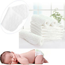 5PCS 60PCS Reusable Baby Cloth Diaper Nappy Liners Inserts 3 Layers Cotton USA