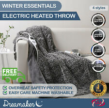 Washable Coral Fleece Heated Electric Throw Rug Snuggle Blanket 11 Heat Setting