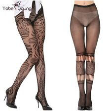 Sexy Gifts Womens Lace Silk Sheer High Stockings Hollow Fishnet Pantyhose Tights