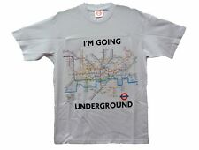 OFFICIAL BRANDED TFL LONDON UNDERGROUND TRAIN SUBWAY TUBE MAP T SHIRT WHITE