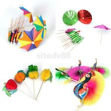 Cocktail Drink Sticks Parasol Umbrella/Peacock/Fruit Cake Picks Party Home Decor
