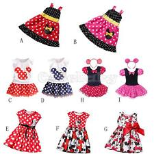 Cute Kids Baby Girls Minnie Mouse Party Dress Vest T-shirt Skirt Toddler Clothes