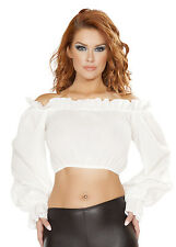 Roma Costume 4769 Ruffled Pirate Top Sexy Halloween Adult Pirate Costumes