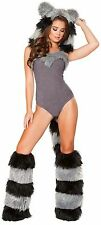 Roma Costume 4719 Furry Raccoon Sexy Adult Halloween Costumes Complete Set