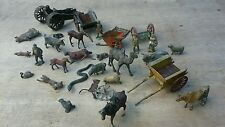 LOT VINTAGE ANTIQUE BRITAINS JOHILLCO TIMPO LEAD FARM AND ZOO FIGURES