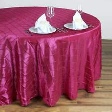 132 in. Pintuck Round Tablecloth~Wedding/Party/Banquet/Restaurant